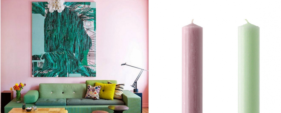 Charles Farris Candles, Pastel Interiors Trend