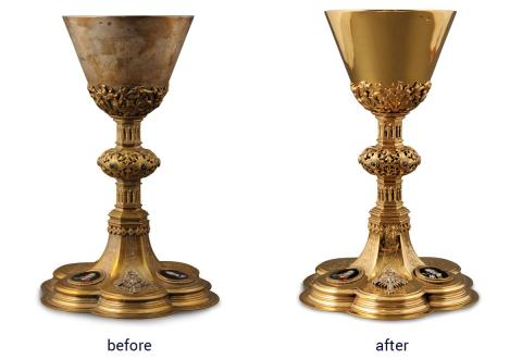 Gold plated Chalice with Limoges enamel