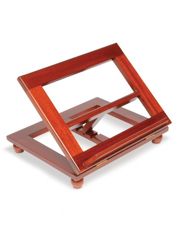 Adjustable Stained Wooden Bible Stand Church Supplies